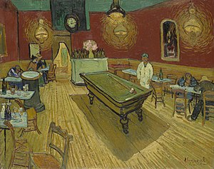 Le Café de nuit - The night café de Vincent van Gogh