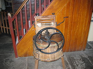 Old washing machine in Bunratty, Ireland