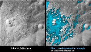 English: These images show a very young lunar ...