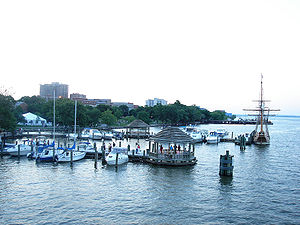 Alexandria's waterfront, seen from the Potomac...