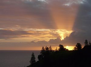 English: Sunset from Anson Bay, Norfolk Island
