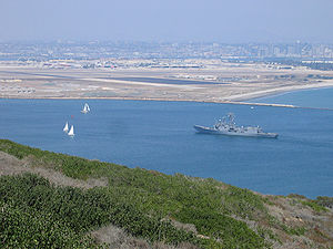 USS Thach (FFG-43) entering San Diego Bay