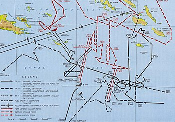 English: Battle of the Coral Sea