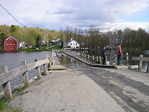 Floating Bridge in Brookfield, Vermont.