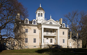 English: Hampton mansion, Maryland, USA from t...