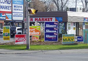 Canadian federal election signs