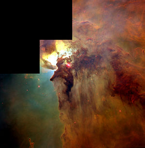 Messier 8 NGC 6523 Lagoon nebula