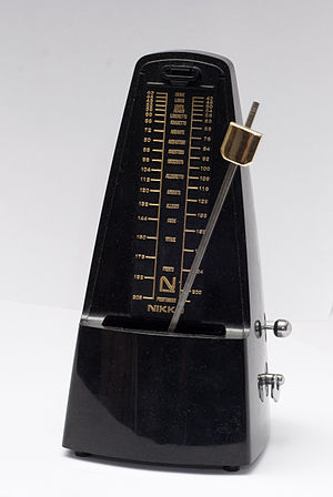 English: Nikko brand mechanical metronome in m...