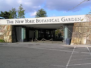 Entrance of the New York Botanic Garden, Bronx...