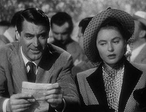 This screenshot shows Cary Grant and Ingrid Be...