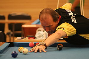 German pool player Oliver Ortmann at the Europ...