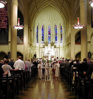 Recessional at St. Mary's Episcopal Cathedral,...