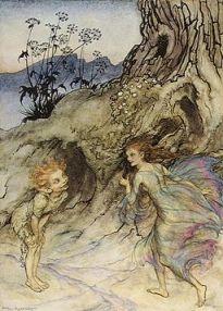 Puck and a Fairy Rackham