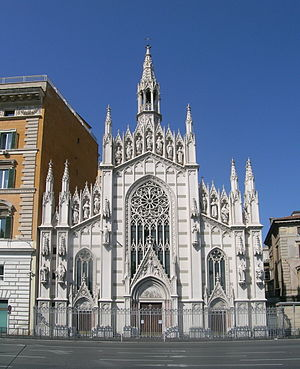 English: view of the front of the church of Sa...