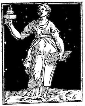 English: Wisdom in Cesare Ripa's Iconologia, 1611