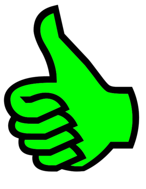 Symbol thumbs up green