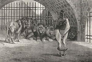 English: Daniel in the Lion's Den, as in Danie...