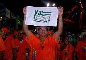 March in favor of autonomy. Santa Cruz de la S...