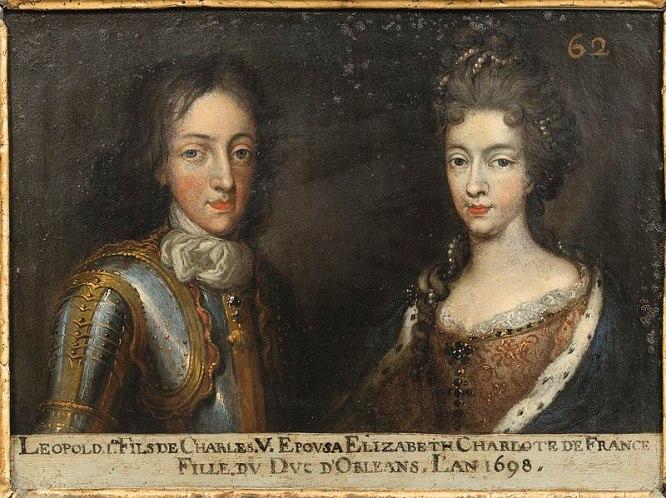 62. Léopold, duc de Lorraine, et son épouse Elisabeth-Charlotte d'Orléans.jpg