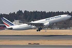 Airbus A330-203 da Air France, idêntico ao avião despenhado, via WikiPedia