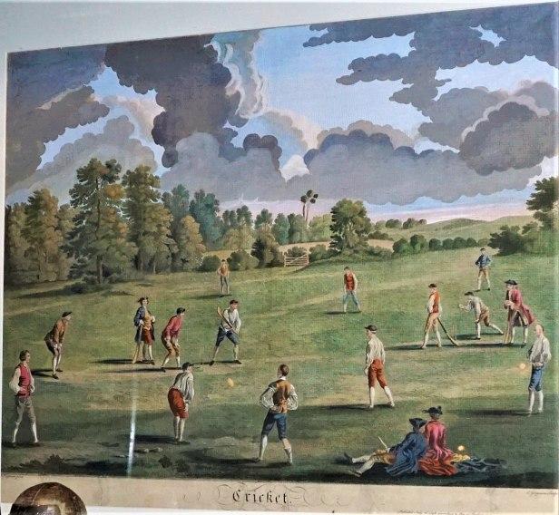 Cricket in Marylebone Fields, 1748 - www.joyofmuseums.com - National Sports Museum