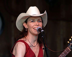 English: Gillian Welch performing at MerleFest...