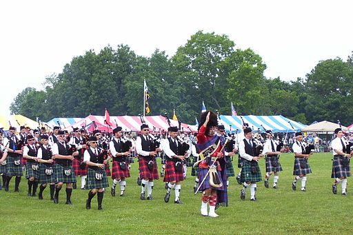 Glasgow Highland Games Massed Bands 2008