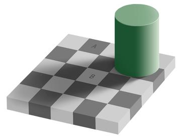 The Grey square optical illusion