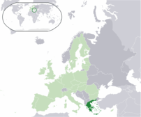Greece (dark green) / European U...