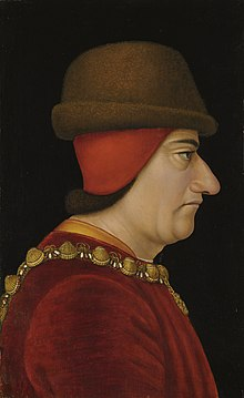 Louis XI.Portrait anonyme (XVe siècle). Brooklyn Museum, New York.