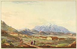 Mont Parnasse, par Edward Dodwell, BNF Gallica