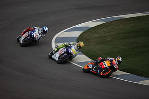 Pedrosa being chased
