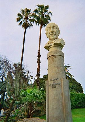 Bust of Pirandello in a public park in Palermo.