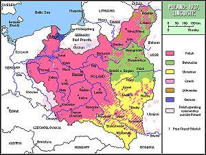 Poland 1937 linguistic/Polska 1937: języki