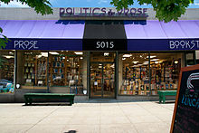 Storefront of bookstore Politics and Prose