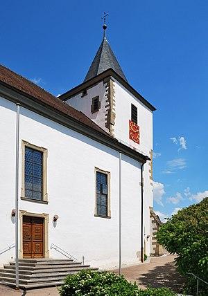 The catholic church St. Kilian in Mulfingen in...