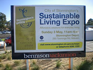 The 2009 Sustainable Living Expo in Stonnington.
