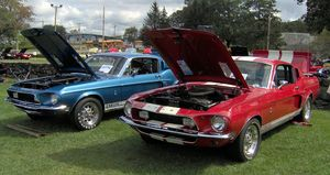 1968 GT500 (L) and GT350 (R)