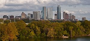 English: Downtown Austin from across Town Lake.