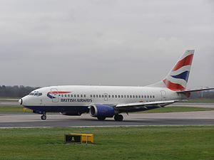 Boeing 737-500 registered G-GFFD of British Ai...