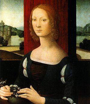 La dama dei gelsomini by Lorenzo di Credi Port...