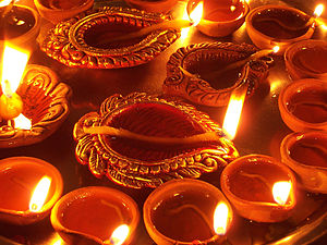 Lighting during the Tihar Festival season.