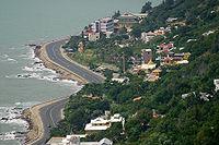 Ha Long Road serpenting the seashore in Vungtau