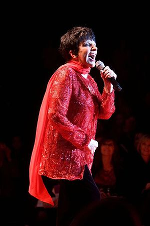 Liza Minnelli at the Red Dress Collection char...