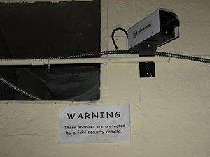 English: Fake security camera in the Museum of...