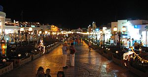 Jedna z uliczek dzielincy miasta Sharm el-szej...
