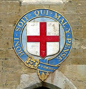 Emblem of the Order of the Garter at Windsor C...