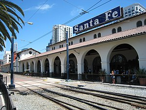 San Diego Train Station The old Santa Fe Depot.