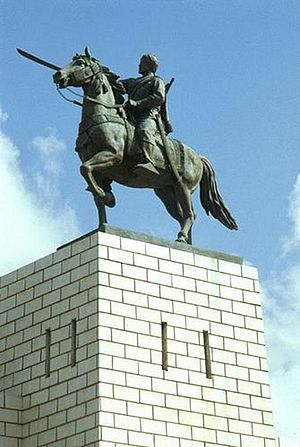 English: Statue of Sayyid Mohammed Abdullah Ha...