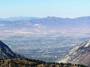 View of Salt Lake valley from 11,000 foot summ...
